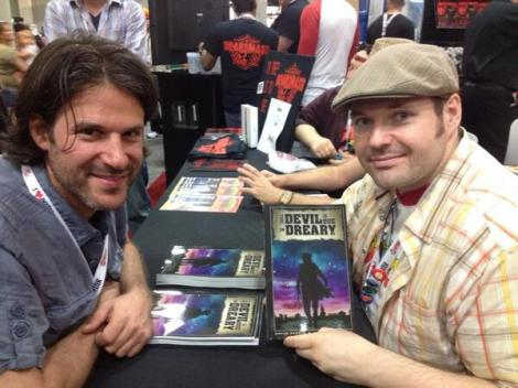 Daryl Freimark (Left) and David Parkin (Right) promoting Dreary at San Diego Comic Con
