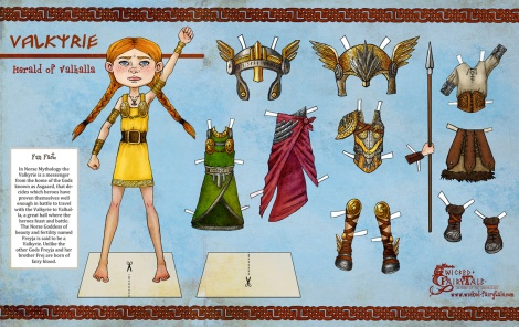Valkyrie Herald of Valhalla Paper Doll