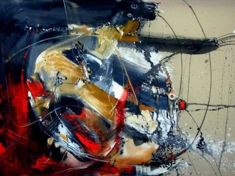 """""""Una cosa y la otra"""" (acrylic on canvas/mixed media), 2012"""